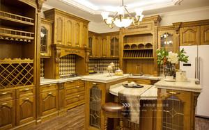嘉木诗实木家具厨房橡木整体定制